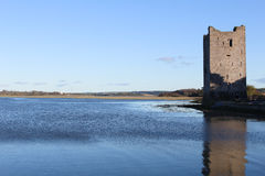 Belvelly Castle situated between Fota and Cobh, Ireland. Taken from the old bridge Stock Image