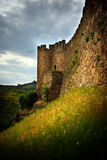 Belver Castle. Wall of a medieval castle in Belver, Portugal Royalty Free Stock Photo