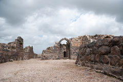 Belvoir castle ruins in Galilee. Tourist attraction national park in Israel North Royalty Free Stock Image