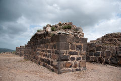 Belvoir castle ruins in Galilee Royalty Free Stock Photos