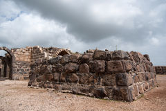 Belvoir castle ruins in Galilee. Tourist attraction national park in Israel North Stock Photography