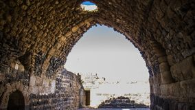 Belvoir Fortress. Belvoir Ancient Crusaders Fortress, Jordan Valley, Israel Jordan Star Stock Photo