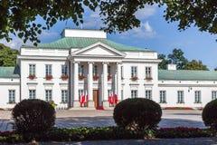 Belweder宫殿在华沙,波兰 免版税库存照片