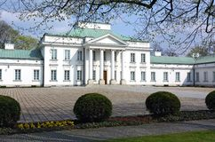 Belweder Palace. In Warsaw, Poland. One of residence of polish President royalty free stock photos