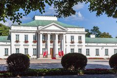 Belweder Palace in Warsaw, Poland. Neoclassical Belweder Palace in Warsaw, Poland. Residence of Polish Presidents Royalty Free Stock Photo