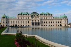Belwederu pałac budynek w Wiedeń Obrazy Royalty Free
