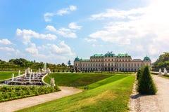 Belwederu pałac kompleks w Wiedeń, piękny lato widok obrazy stock