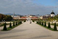 Belwederu pałac ogród w Wiedeń Fotografia Stock