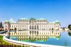 Belwederu pałac, piękny widok, Austria żadny ludzie fotografia royalty free