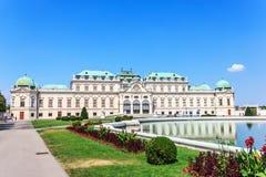 Belwederu pałac w Wiedeń, Austria, lato widok zdjęcie stock