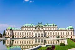 Belwederu pałac widoczny, Wiedeń, żadny ludzie fotografia royalty free