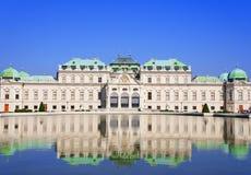 Belwederu pałac, Wiedeń, Austria Zdjęcia Stock