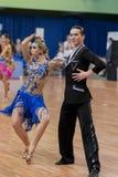 Belyavskiy Vladislav and Belan Dariya Perform Juvenile-2 Latin-American Program on National Championship Royalty Free Stock Photography