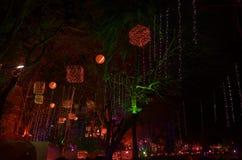 Belysning för konstfestival i India-8 Arkivbild