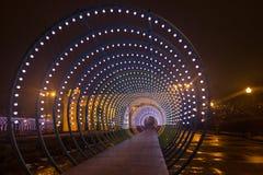 Belysning i parkera Fotografering för Bildbyråer