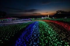Belysning i Tokyo tyskby royaltyfria bilder
