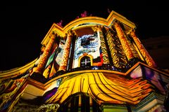 Belysningar på facultiy av lag i berlin fotografering för bildbyråer