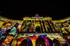 Belysningar på facultiy av lag i berlin royaltyfria foton