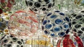 Belysningeffekt på den glass bollen royaltyfri bild