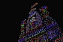 Belysninggarnering, Ganesh festival, Pune, Indien royaltyfri fotografi