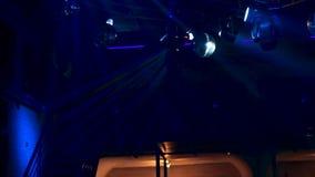 Belysningsystem f?r dansgolvet i en nattklubb lager videofilmer