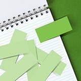 bemärk anteckningsbokpapper arkivbild