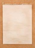 bemärk gammalt papper Arkivfoton