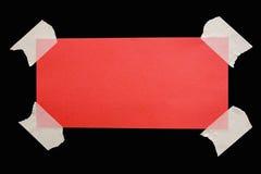 bemärk ner bana röd tejpad w Royaltyfria Bilder