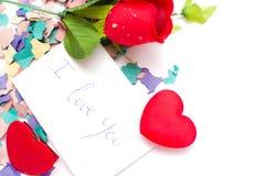 bemärk rose Royaltyfria Bilder