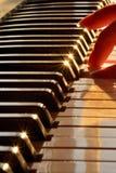 bemärker pianot Arkivfoto