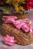 Bem-casado brazilian sweet for wedding Royalty Free Stock Images