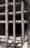 Bem com uma estrutura de madeira prendeu por pregos Imagem de Stock Royalty Free