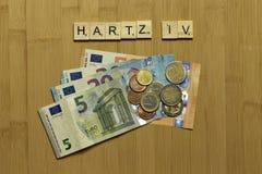 Bem-estar básico Solidarisches alemão Grundeinkommen Hartz IV do subsídio de desemprego da renda do sinal fotos de stock royalty free