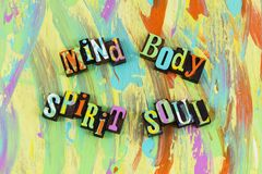 Bem-estar da alma do espírito do corpo da mente imagem de stock royalty free