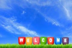 Bem-vindo Fotografia de Stock