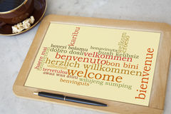 Bem-vindo Imagem de Stock