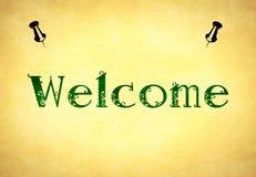 Bem-vindo Imagens de Stock Royalty Free