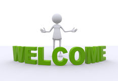 Bem-vindo Imagem de Stock Royalty Free