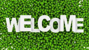 Bem-vindo assine sobre o fundo colorido ilustração 3D Imagem de Stock Royalty Free