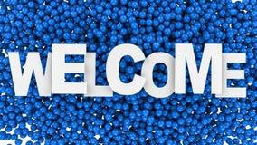 Bem-vindo assine sobre o fundo colorido ilustração 3D Imagem de Stock