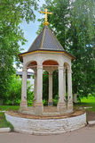 Bema of the temple of the Reverend John Climacus in Savvino-Storozhevsky man's monastery in Zvenigorod, Russia. Bema of the temple of the Reverend John Climacus Stock Photos