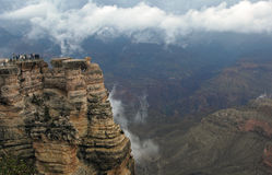 Grand Canyon ovanför molnen Royaltyfri Fotografi