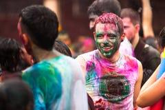 Den Holi festivalen av färgar i Kuala Lumpur royaltyfria bilder