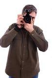 Bemannen Sie das Fotografieren Stockbild