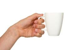 Bemannen Sie das Halten eines Tasse Kaffees lizenzfreie stockfotografie