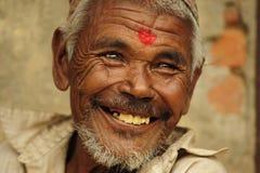 Bemannen Sie das Lächeln Stockfoto