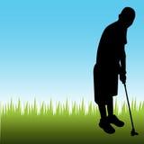 Bemannen Sie das Spielen des Golfs Lizenzfreies Stockbild
