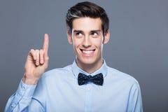 Bemannen Sie das Zeigen des Fingers Lizenzfreies Stockfoto