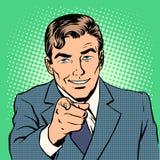 Bemannen Sie das Zeigen des Fingers Lizenzfreie Stockbilder