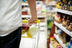 Bemannen Sie den Druck der Einkaufslaufkatze Stockfotos